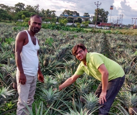Anurag Agarwal (right), Upaya Partner and co-founder of Parvata Foods. Photo: Parvata