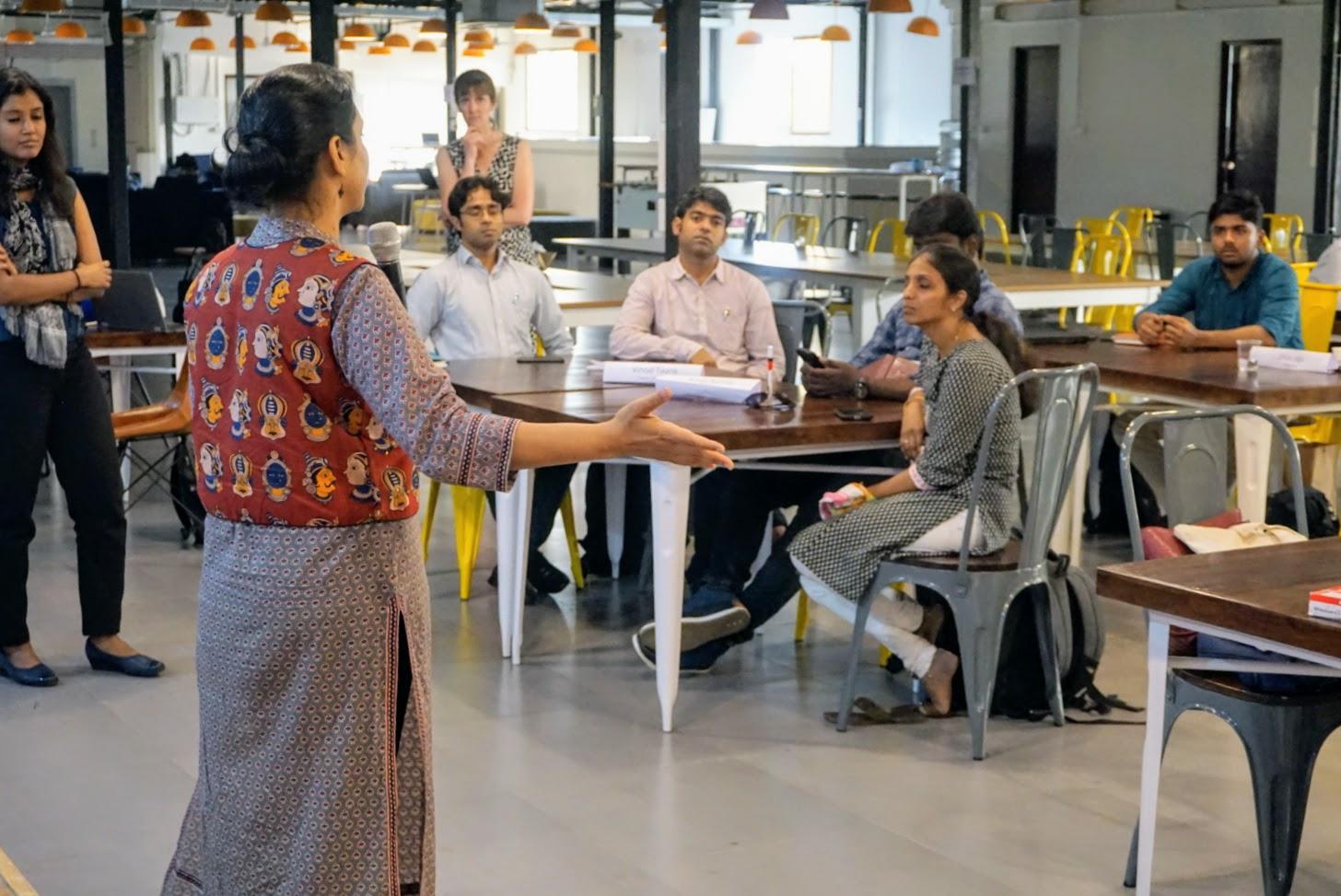 Mansi Agarwal Speaking to Upaya's Second Cohort