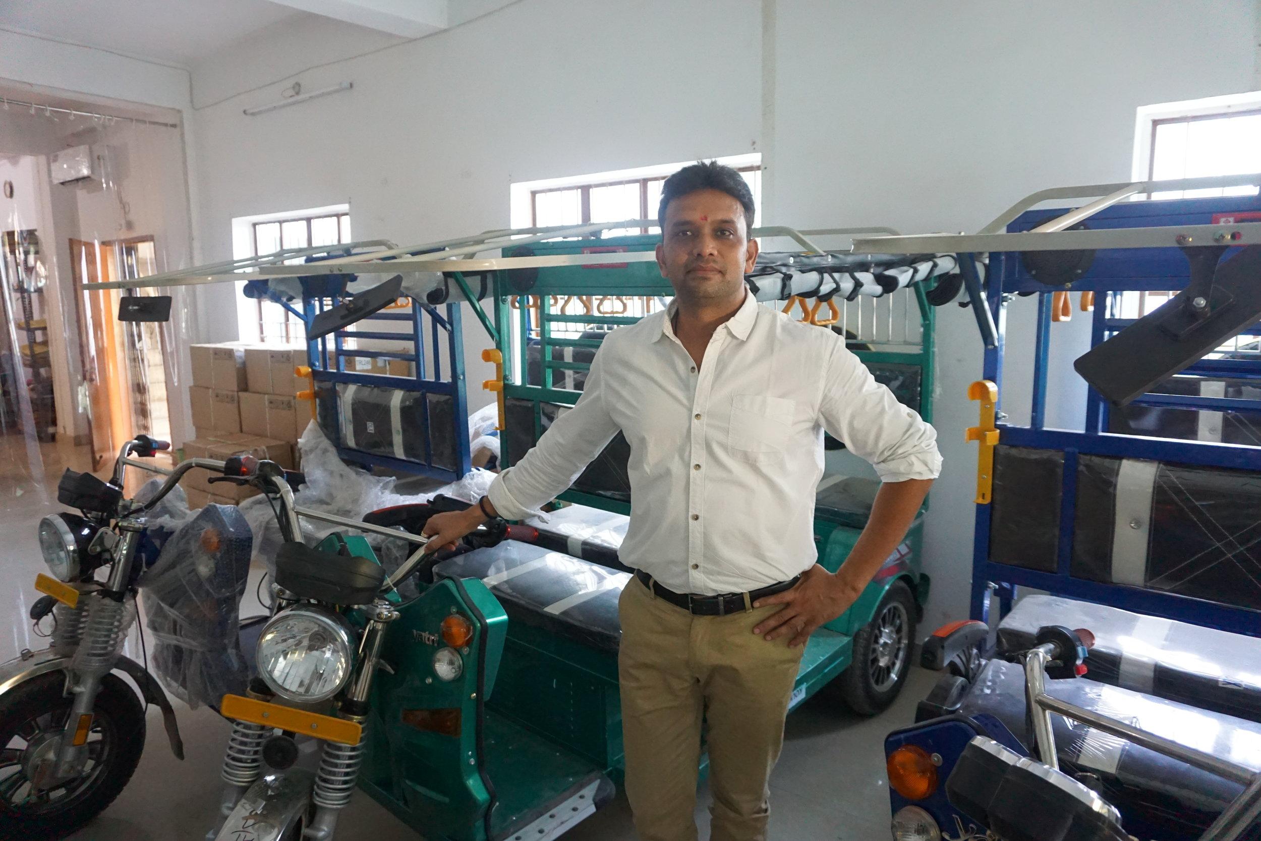 Naveen in SMV's Showroom