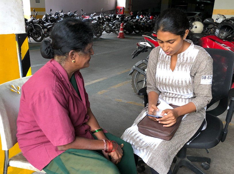 Upaya rolled out a new mobile tool to conduct surveys with Saahas Waste Management jobholders.