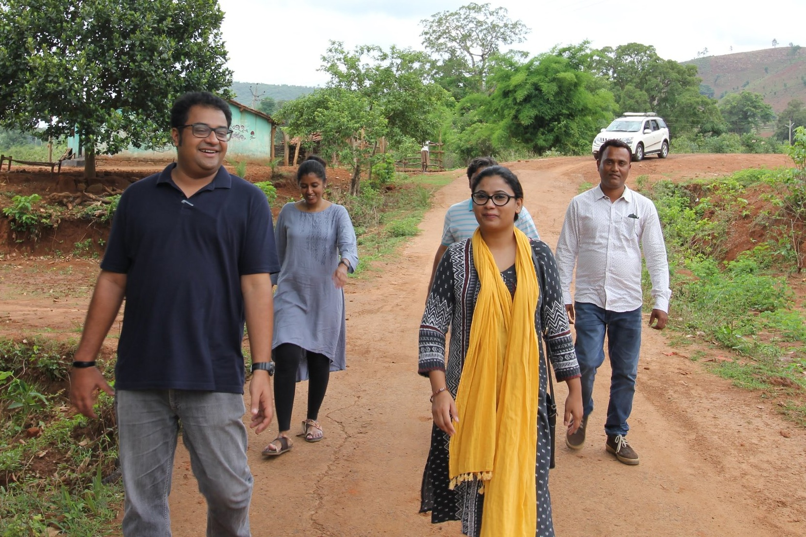 Amit Antony Alex and Anuradha Jayaraman conduct a site visit with the  ZooFresh Foods  team in western Odisha.