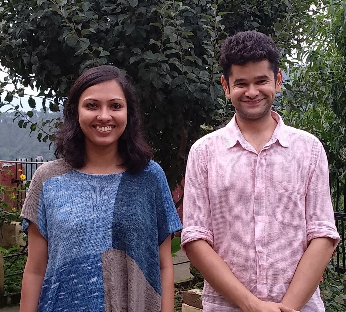 Almora Craft Design Studio (Peoli) Co-Founders, Vasanthi Veluri and Abhinav Dhoundiyal
