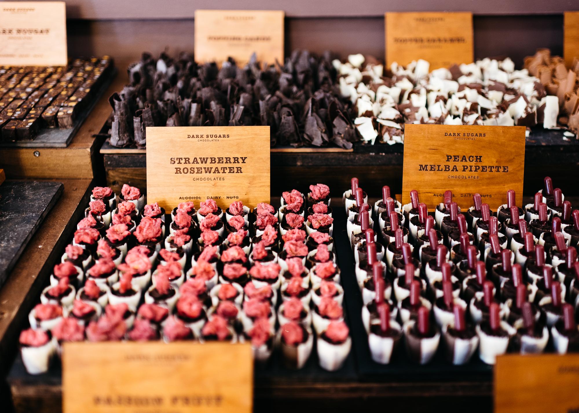 Assortment of chocolates at Dark Sugars