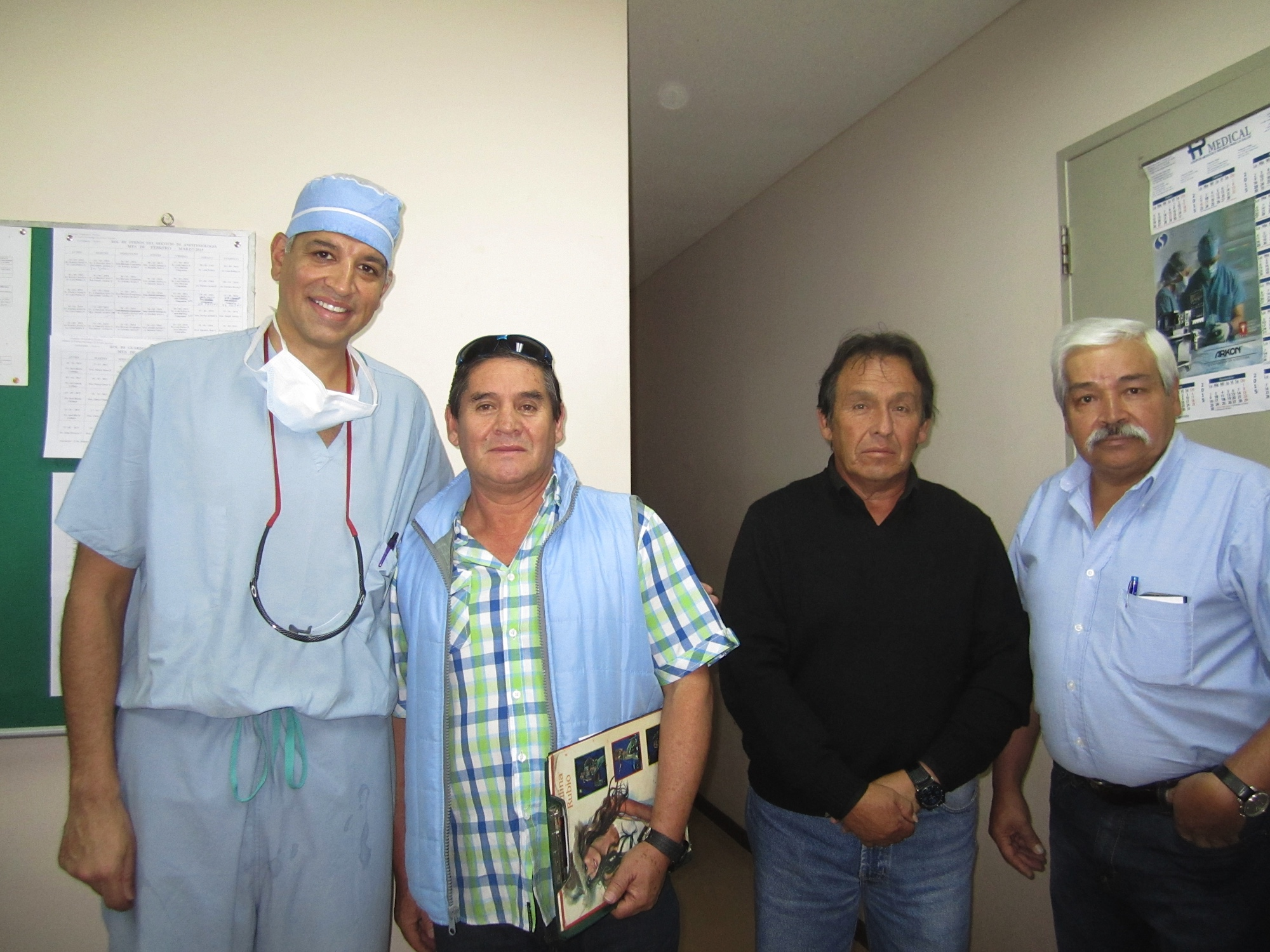 Dr. Bilimoria and Dr. Pereyra with Jose's brother after his surgery.