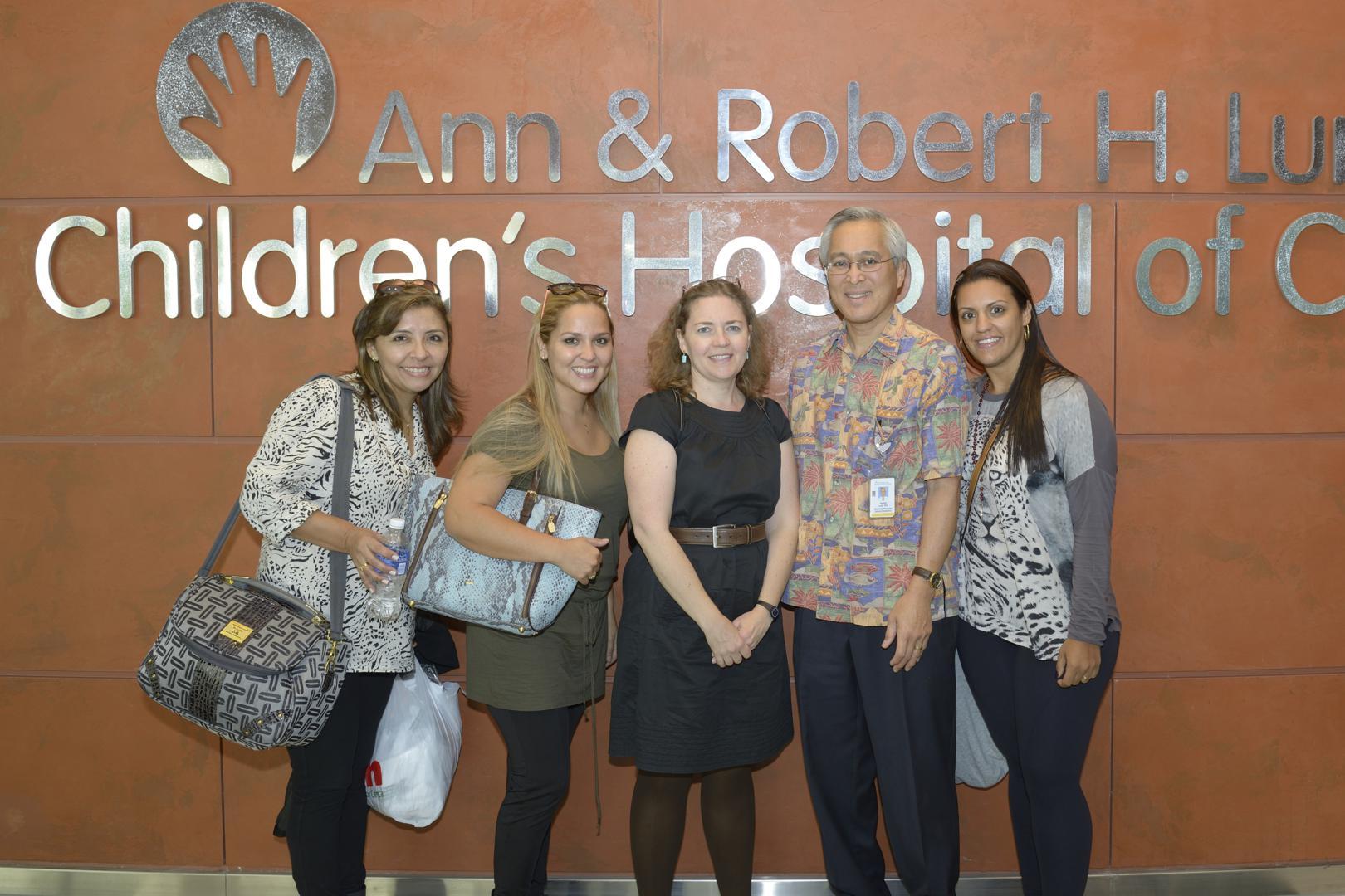 Dr. Alejandra Uriona, Director of Hospital de Ninos, and her colleagues, toured Lurie Children's Hospital alongside Solidarity Bridge's Dr. Dan Lum and Jodi Grahl.