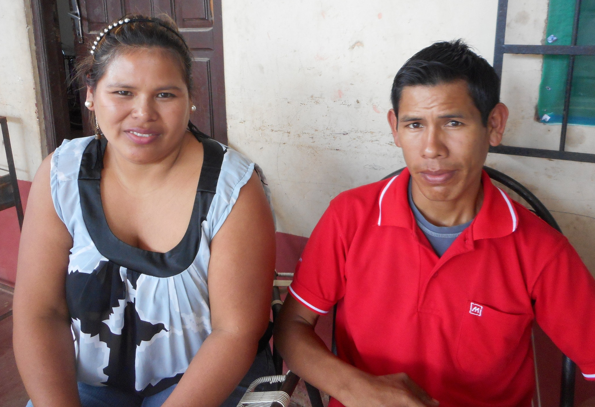 Victor and his sister, pictured at home before his surgery