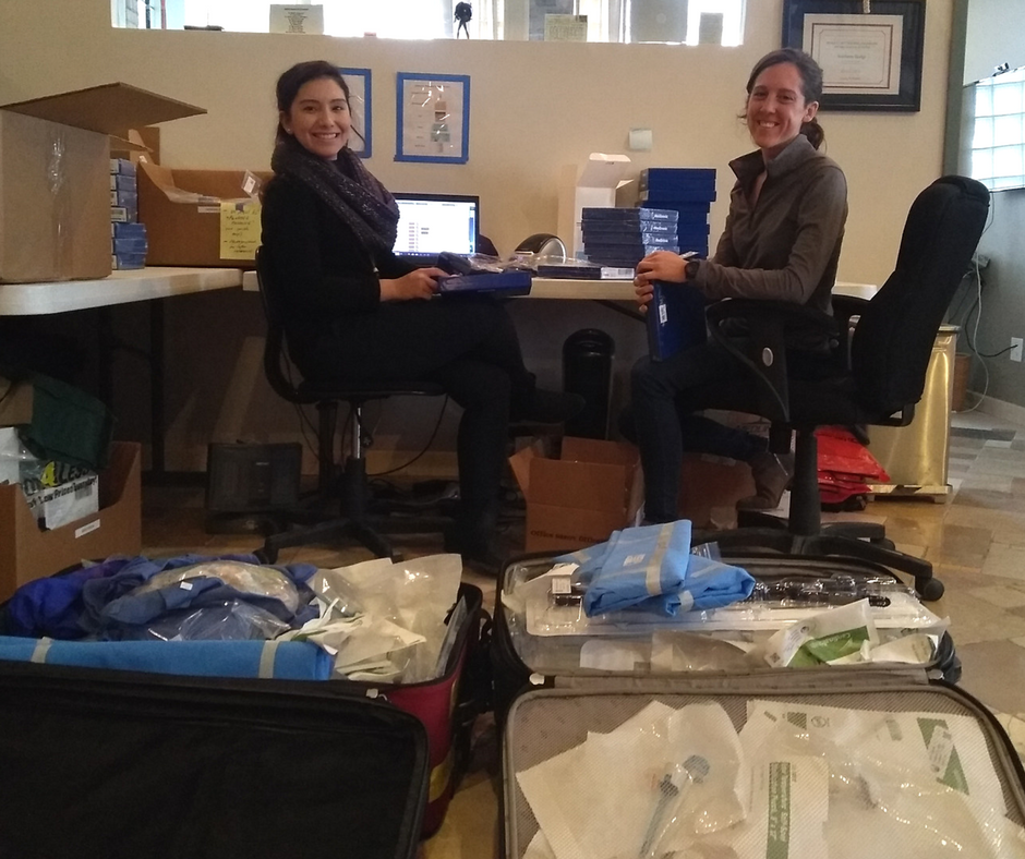 Months of work go into procuring donated supplies, logging inventory and packing for each trip.
