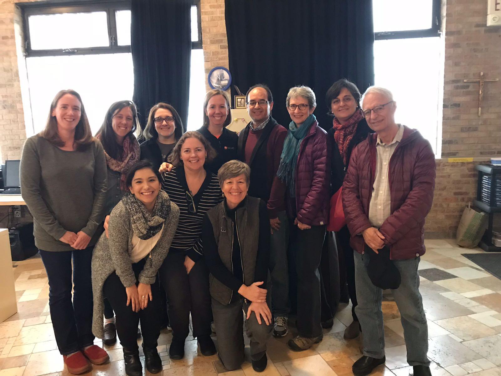 At Solidarity Bridge's Evanston office