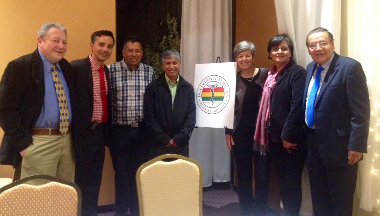 At the Bolivian American Medical Society dinner