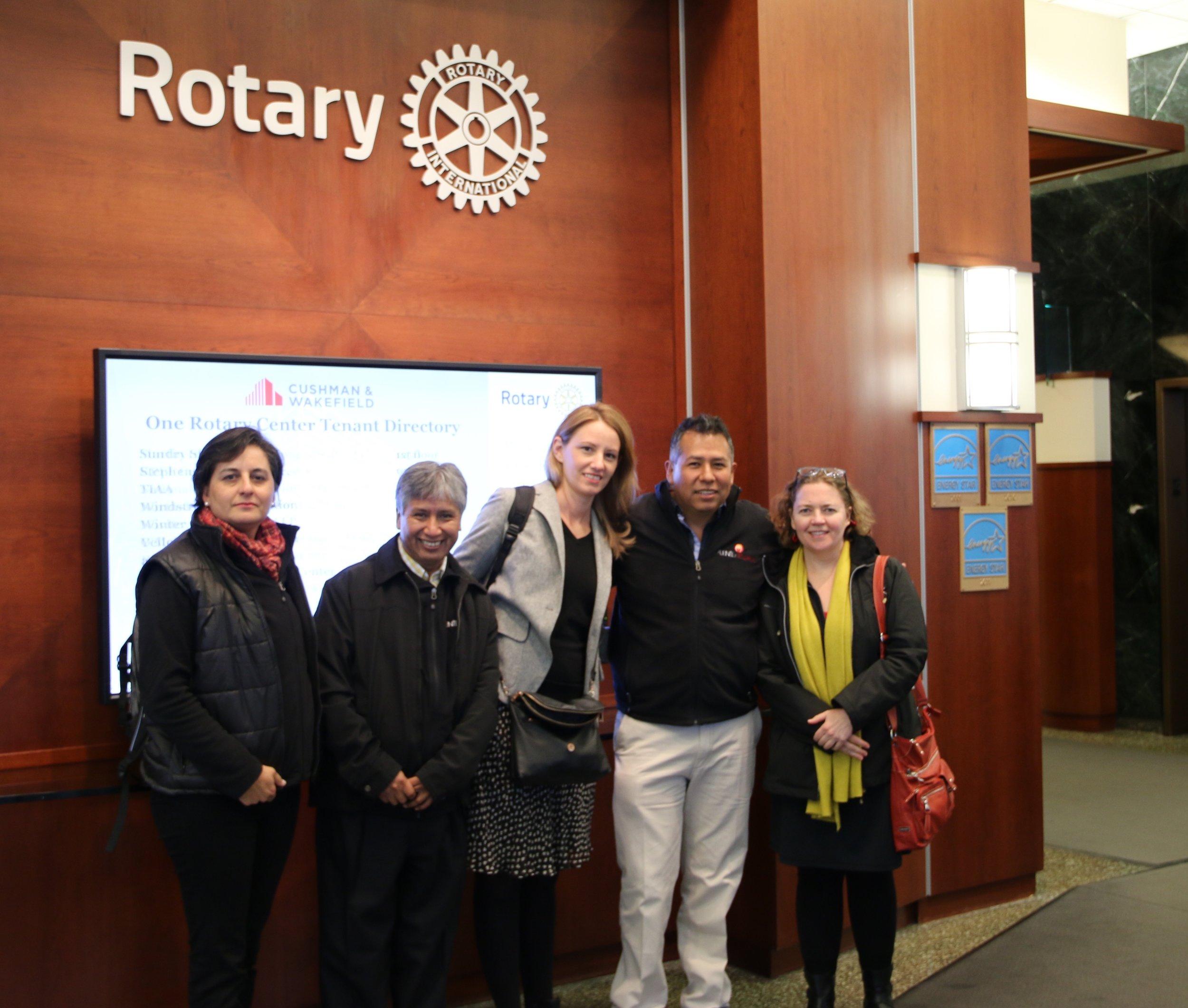 At Rotary International headquarters in Evanston