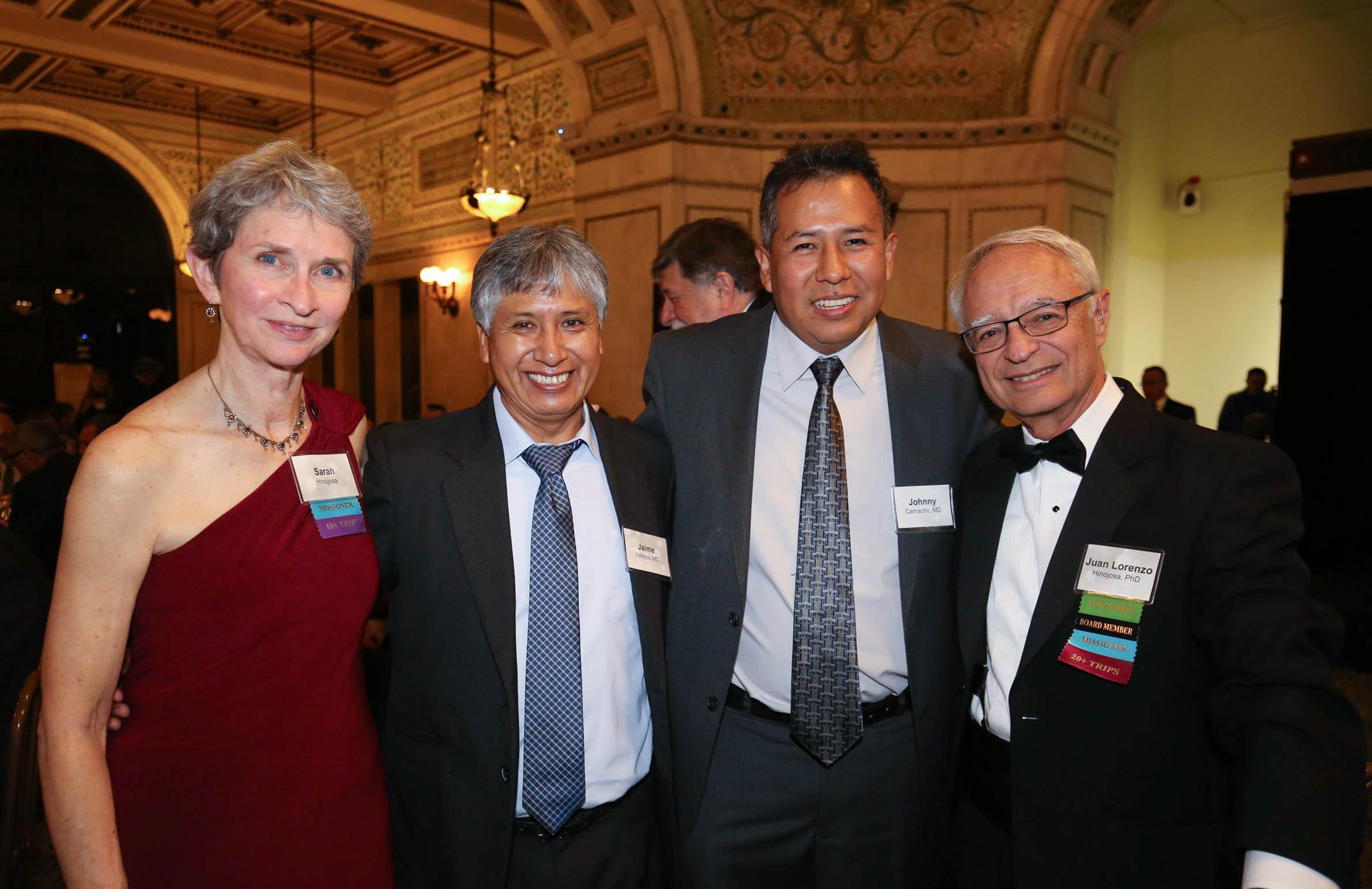 From left: At Fiesta with Sarah Hinojosa, Jaime Vallejos, Johnny Camacho, and SB founder Juan Lorenzo Hinojosa