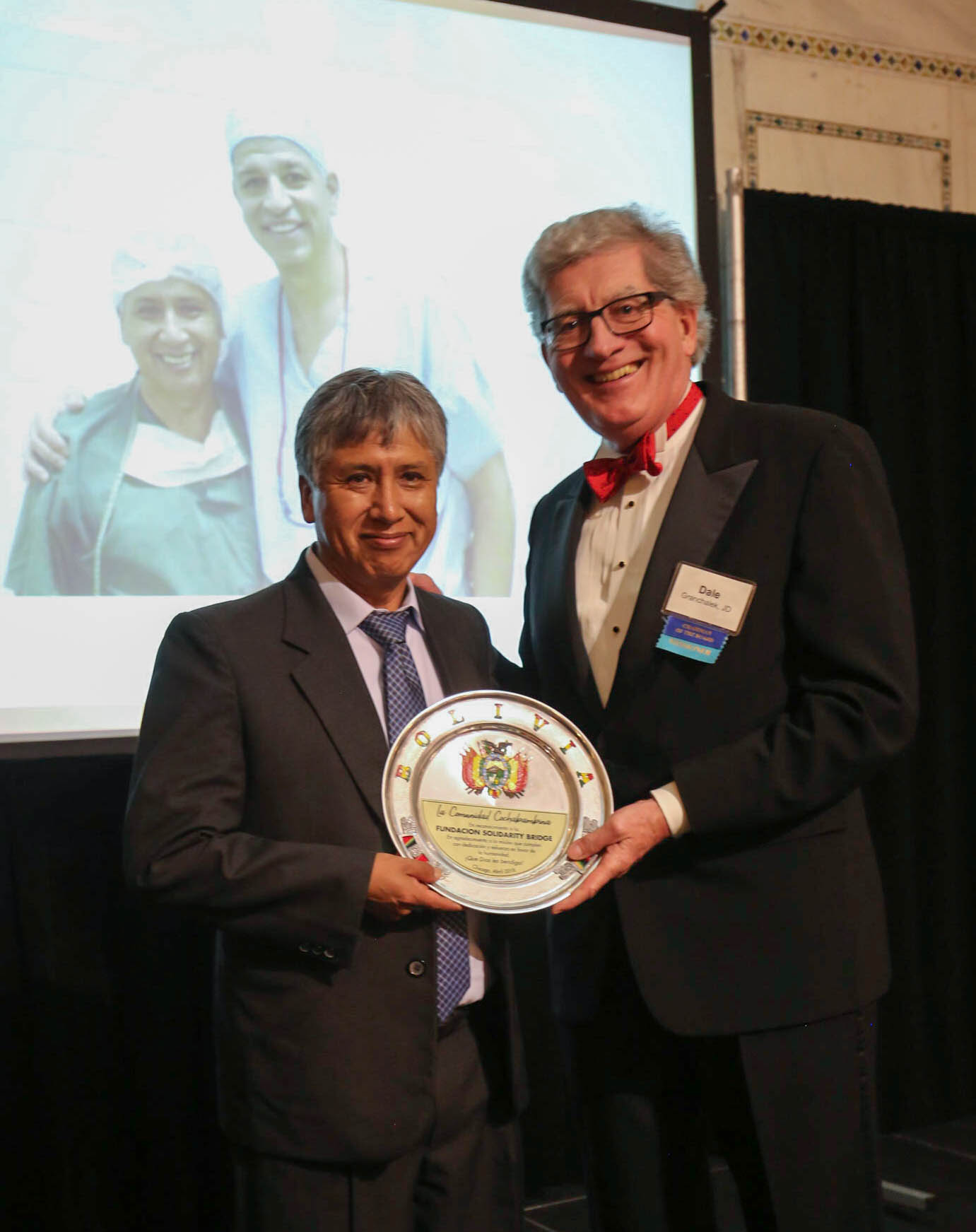 Dr. Vallejos and SB Board Chair Dale Granchalek