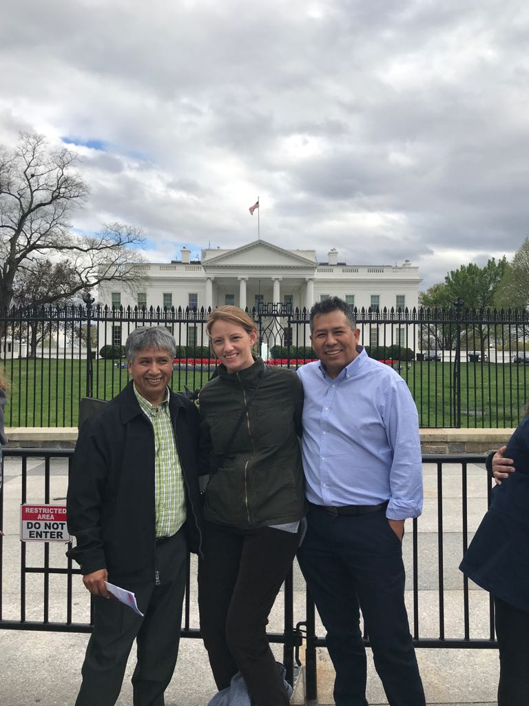 At the White House with Senior Director of Programs Lindsay Doucette