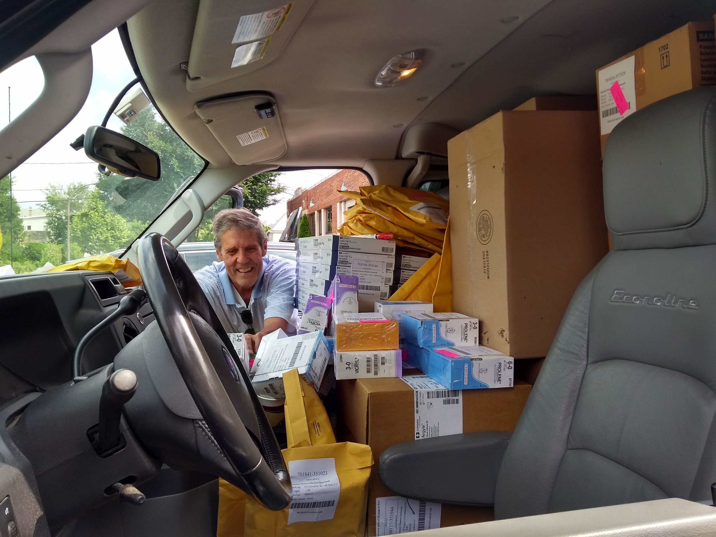 Warehouse Delivery - How do we get 1,250 pounds of supplies from Mokena, Illinois, to our Evanston warehouse? Call Pat!