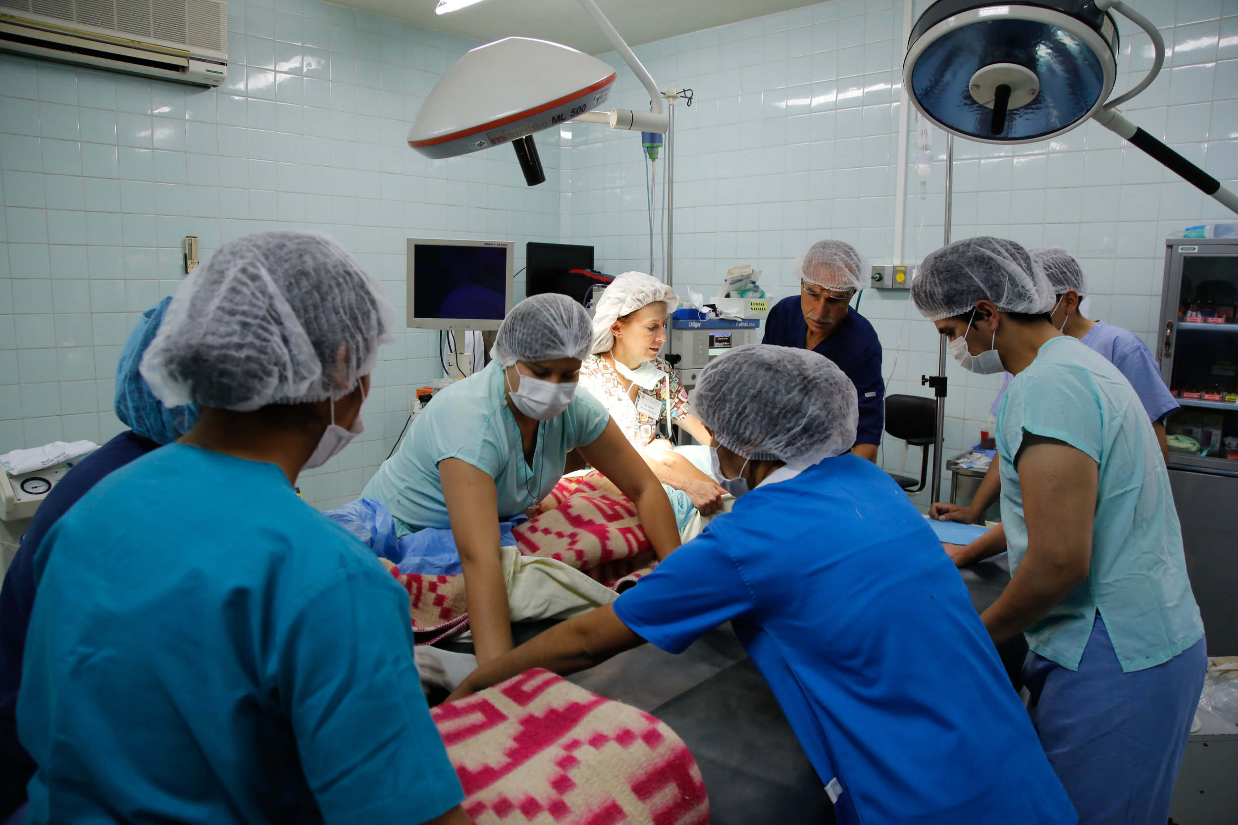 In the OR on mission
