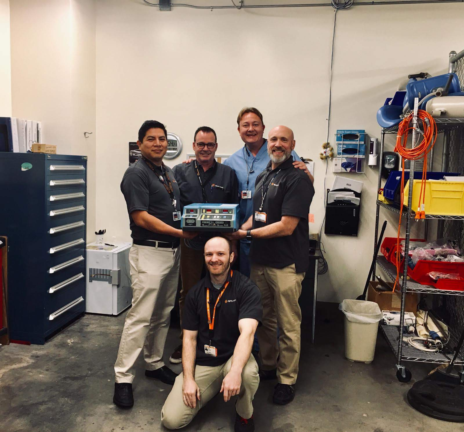 TriMedX donors in the US display a high performance electrosurgical unit that will be donated to our mission.