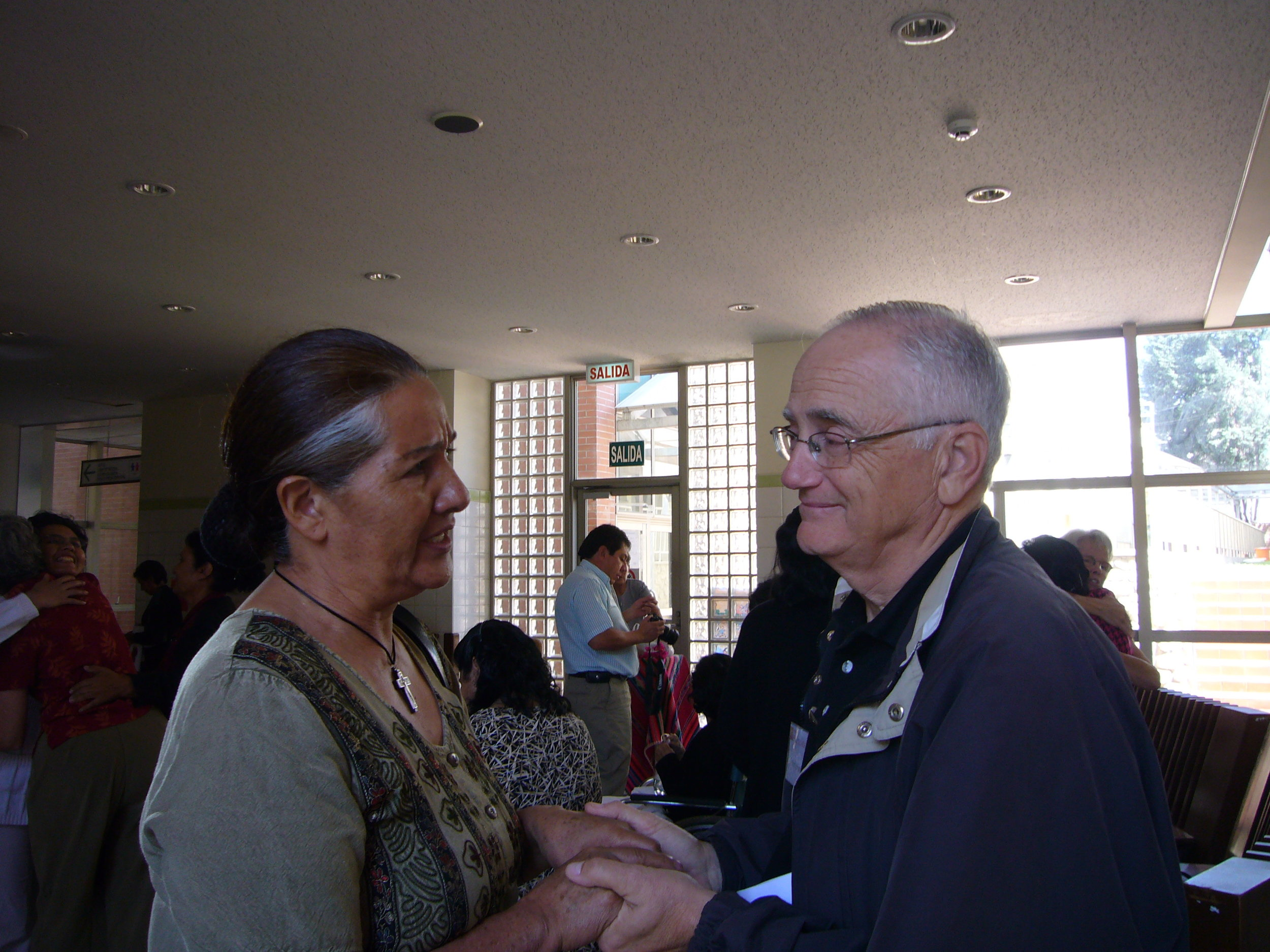 Fanny, with mission surgeon, Dr. Bob LaPata