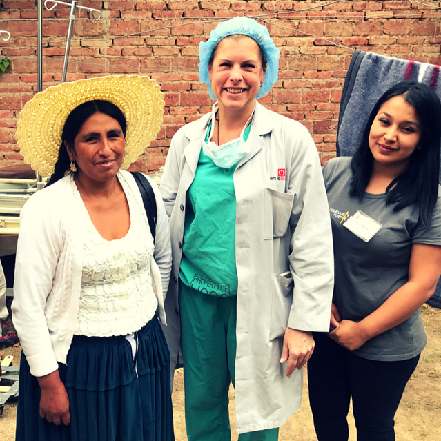 Daniela (left) with Dr. Janet Tomezsko andsocial worker, Marisol