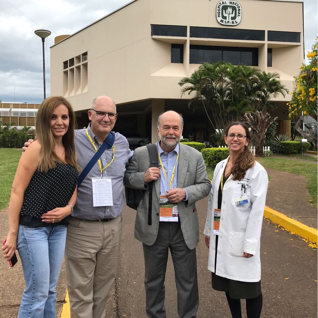 Missioners on the March 2018 trip to Paraguay included Bolivian ENT, Dr. Patricia Arteaga (left), and US missioners, Drs. Art DiPatri, Richard Moser, and Barbar Lazio (left to right).