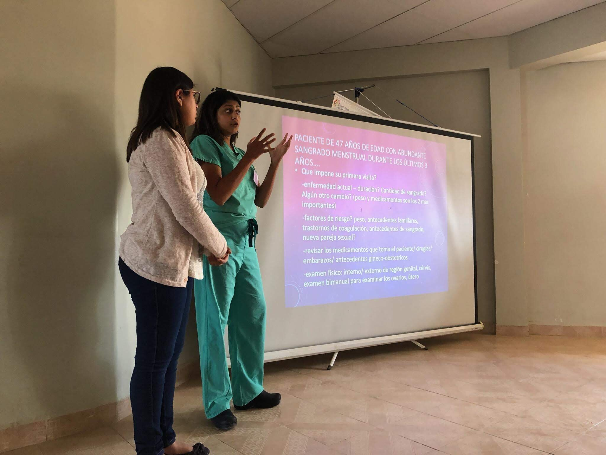In addition to surgical and clinical services, Dr. Agarwal offered a lecture to her colleagues.