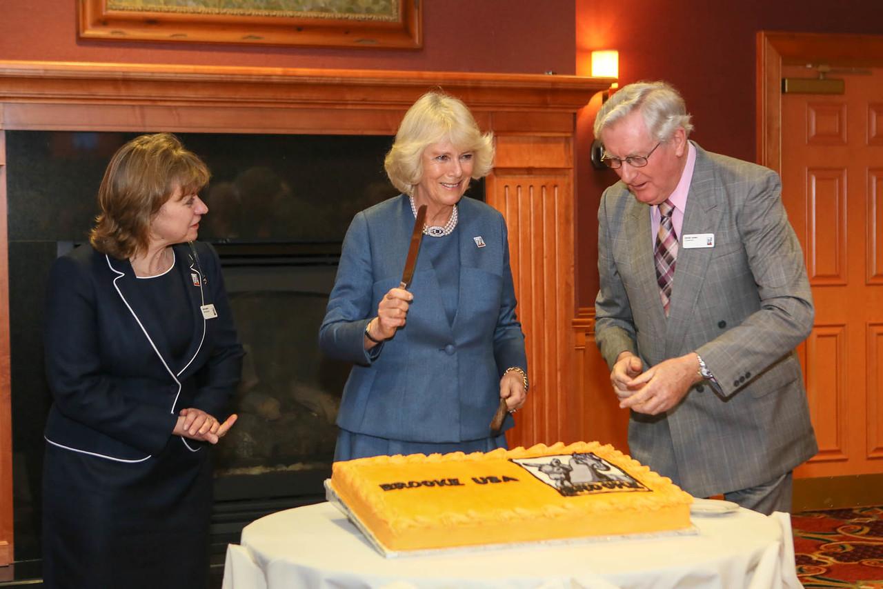 HRH prepares to cut a special cake