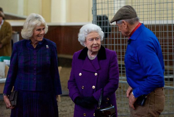 Her Royal Highness The Duchess of Cornwall, Her Majesty Queen Elizabeth II, and Brooke Global Ambassador Monty Roberts at an event hosted by The Duchess of Cornwall for Brooke supporters. Photo by Simon Palmer 2015.