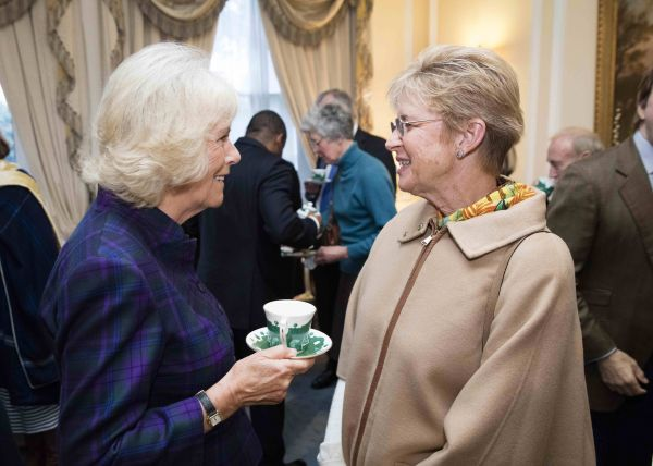 Her Royal Highness The Duchess of Cornwall with Brooke USA ambassador Margaret Duprey. Photo by Simon Palmer 2015.