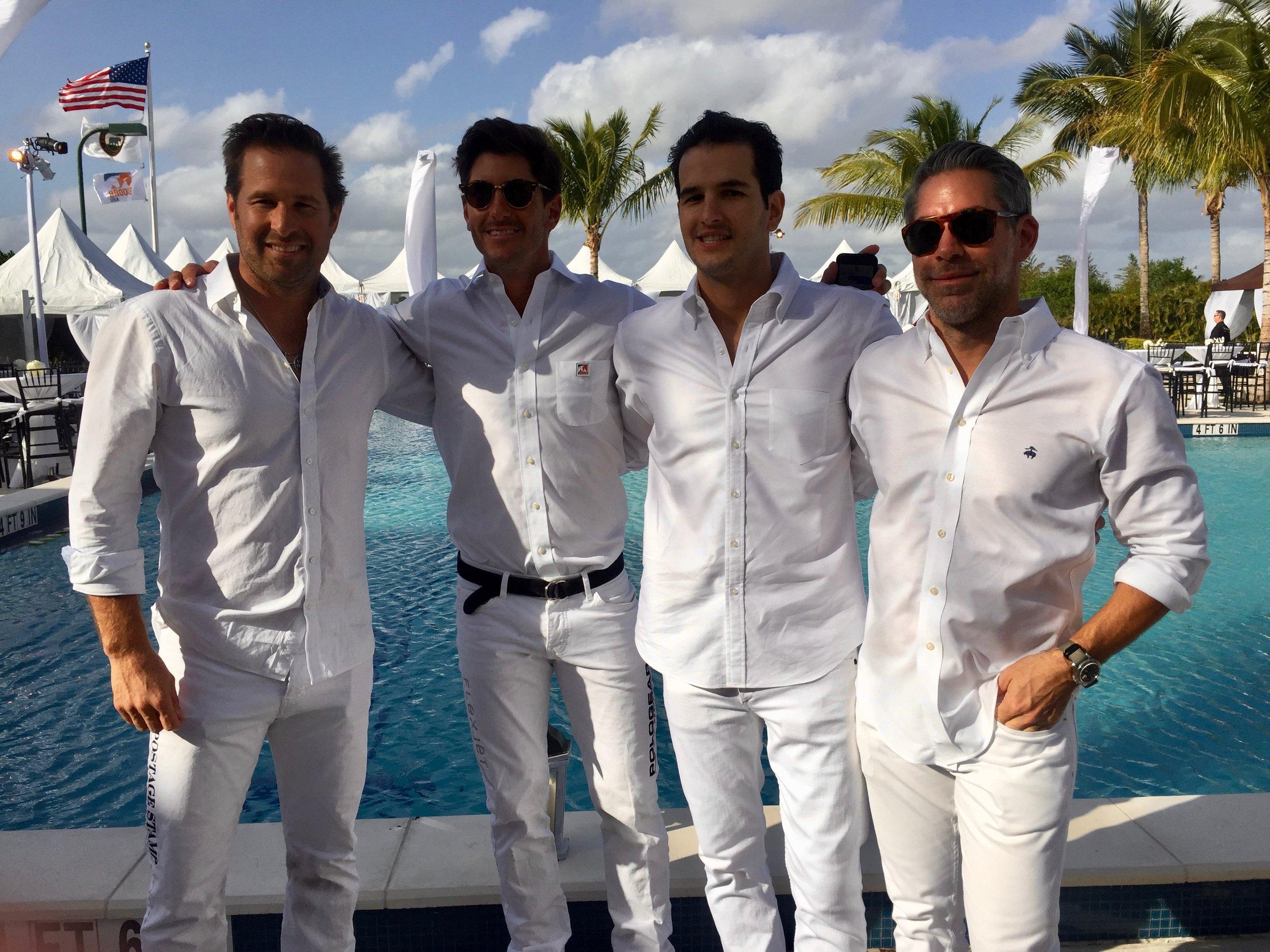 Brandon Phillips, Nic Roldan, Danny Sponzilli & Darren Marotta; Nic Roldan's 2nd Annual Sunset Polo & White Party.jpg