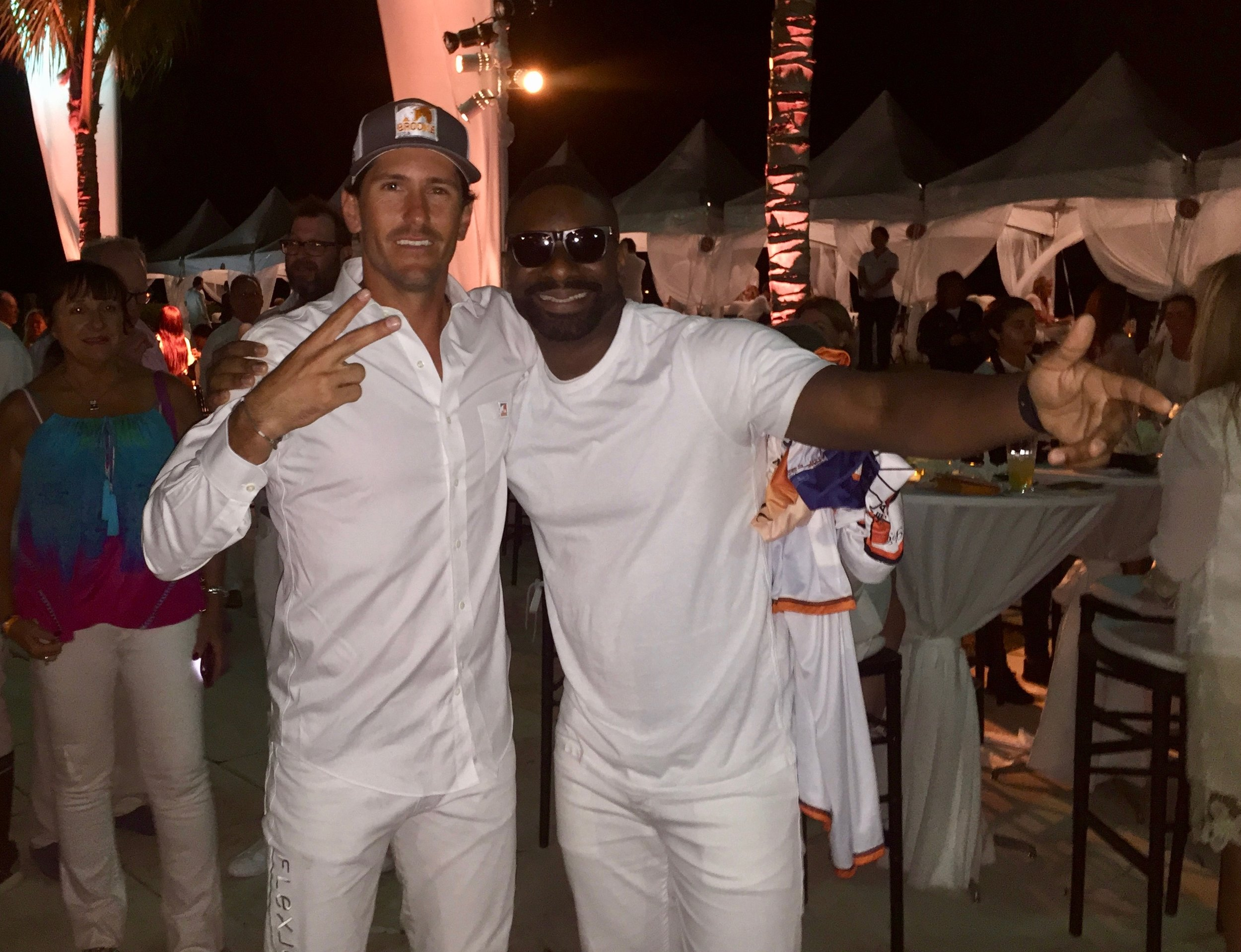 Nic Roldan with DJ Irie; Nic Roldan's 2nd Annual Sunset Polo & White Party.jpg