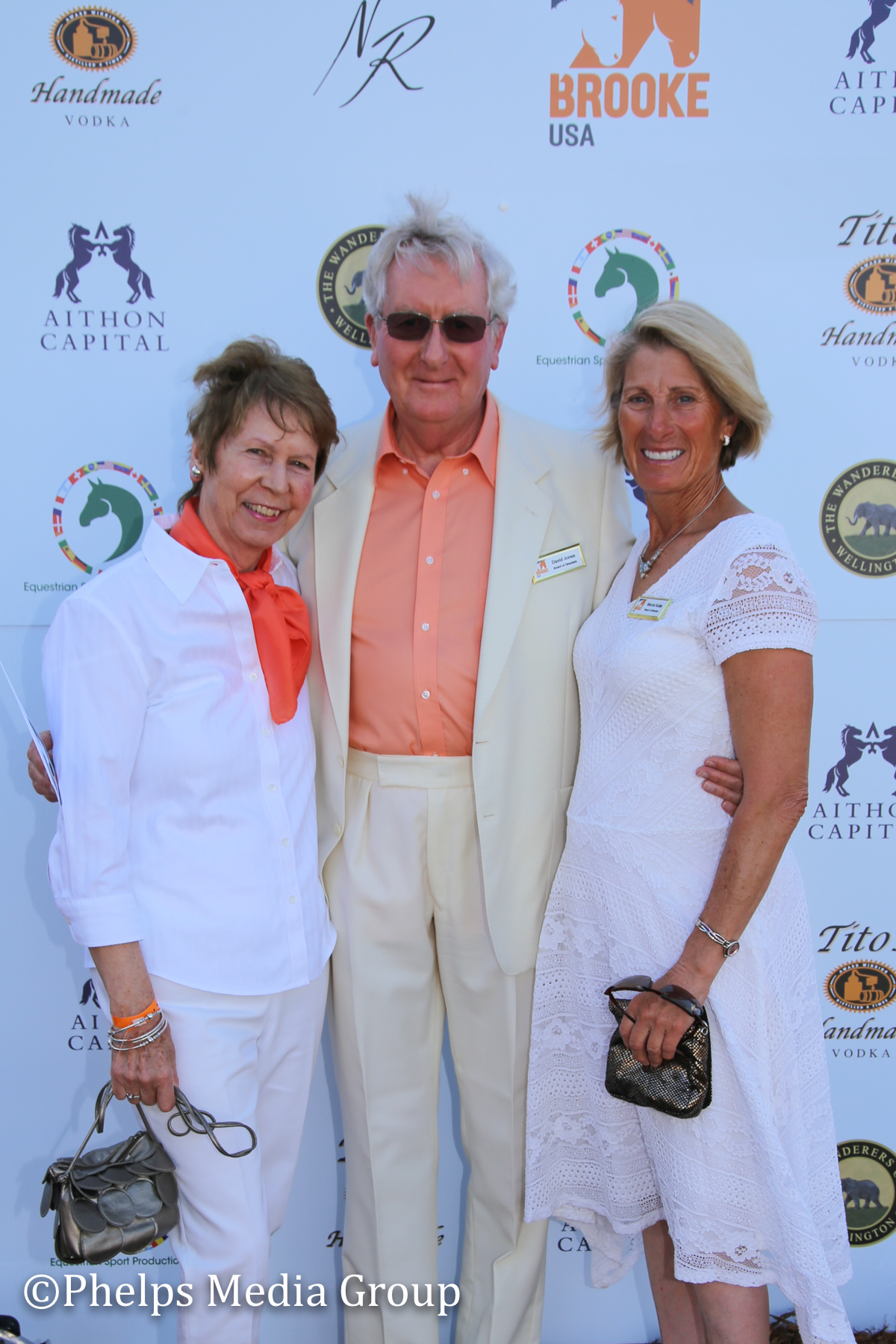 Brooke Board Marcia Kulak and Janet and Daid Jones; Nic Roldan's 2nd Annual Sunset Polo & White Party, FL, by Phelps Media.jpg