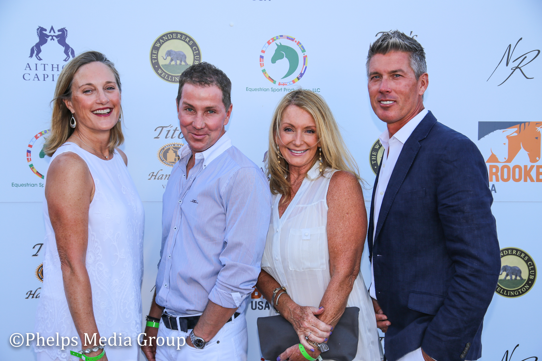 Angela Winston and David Belford, Chris Payne, Jackie Ryall; Nic Roldan's 2nd Annual Sunset Polo & White Party, FL, by Phelps Media.jpg