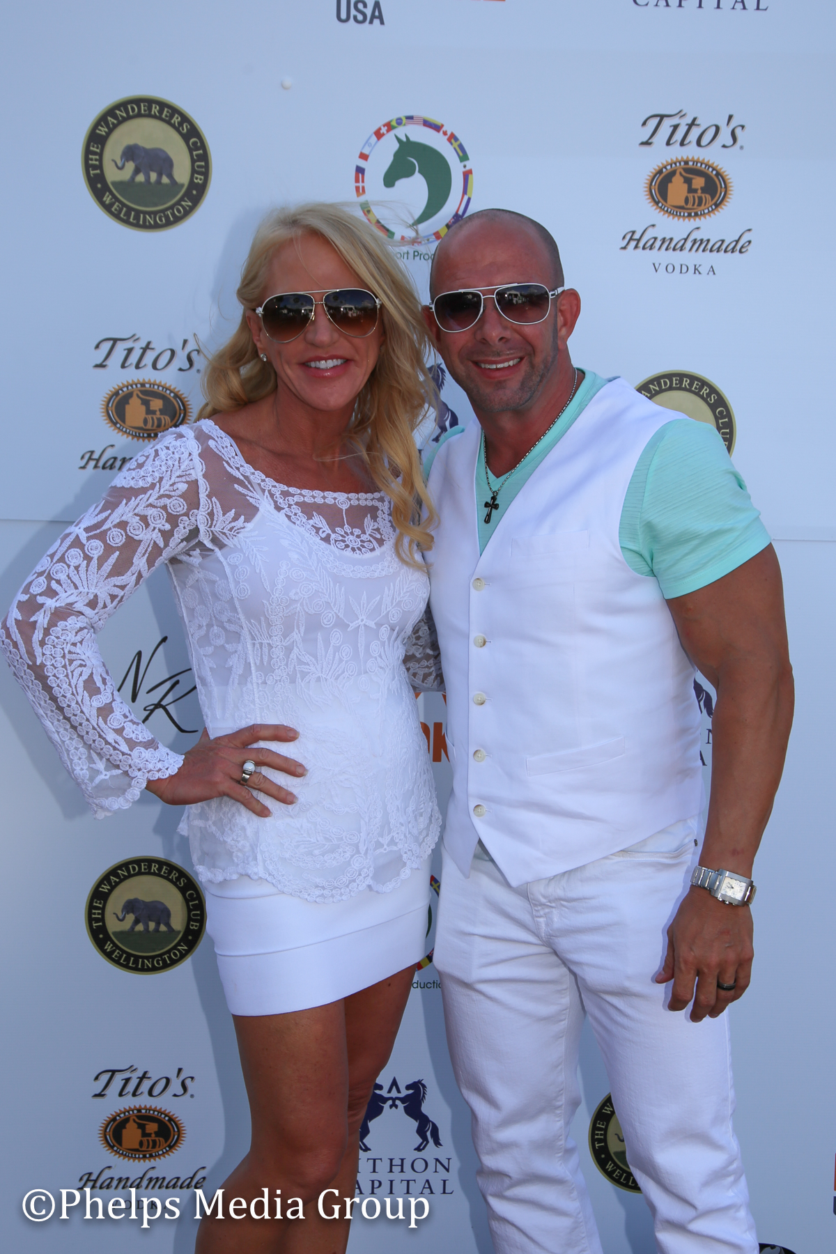 Cheryl Love and Chris Adair; Nic Roldan's 2nd Annual Sunset Polo & White Party, FL, by Phelps Media.jpg