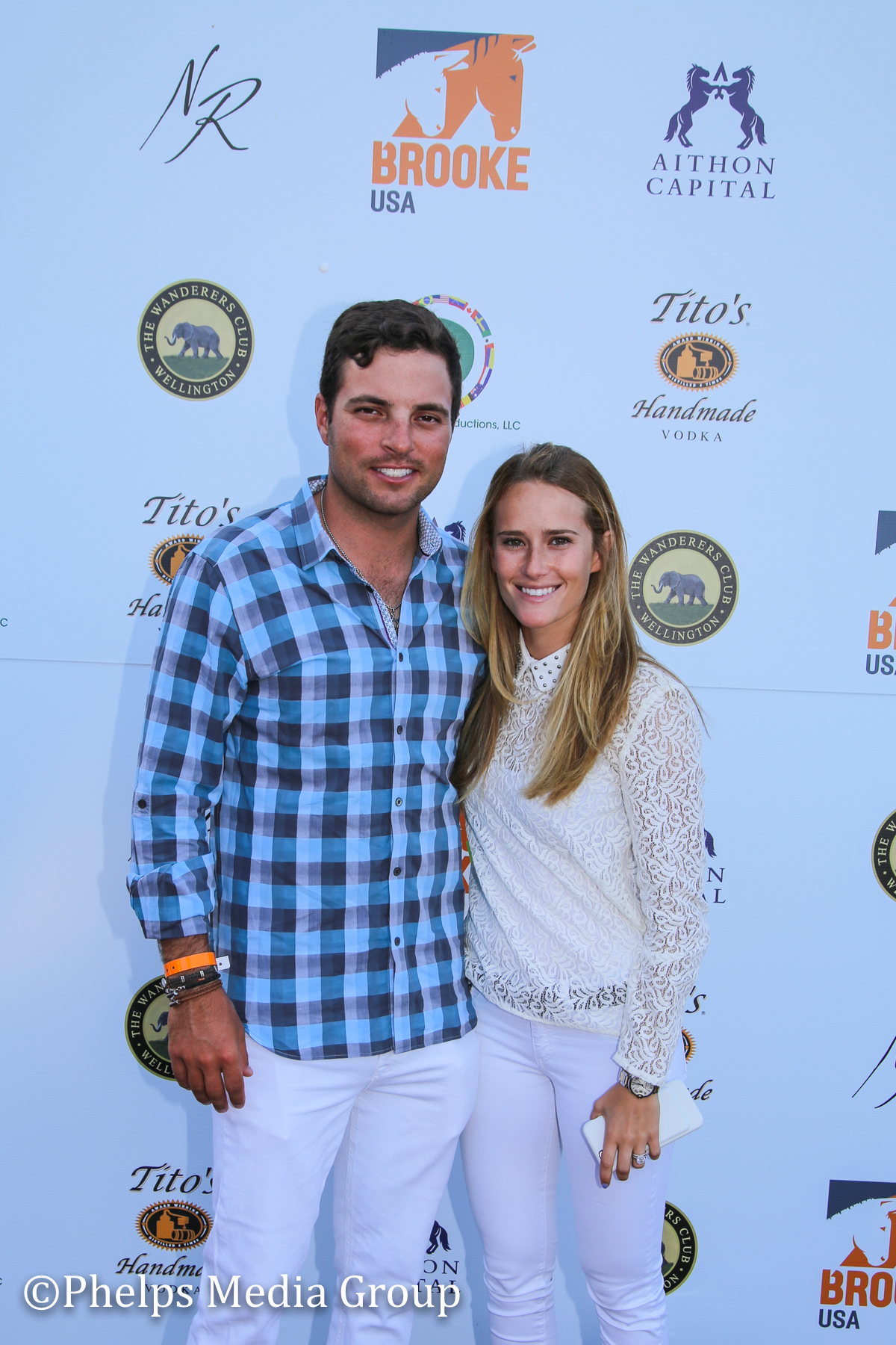 Daniel Bluman and Girlfriend; Nic Roldan's 2nd Annual Sunset Polo & White Party, FL, by Phelps Media.jpg