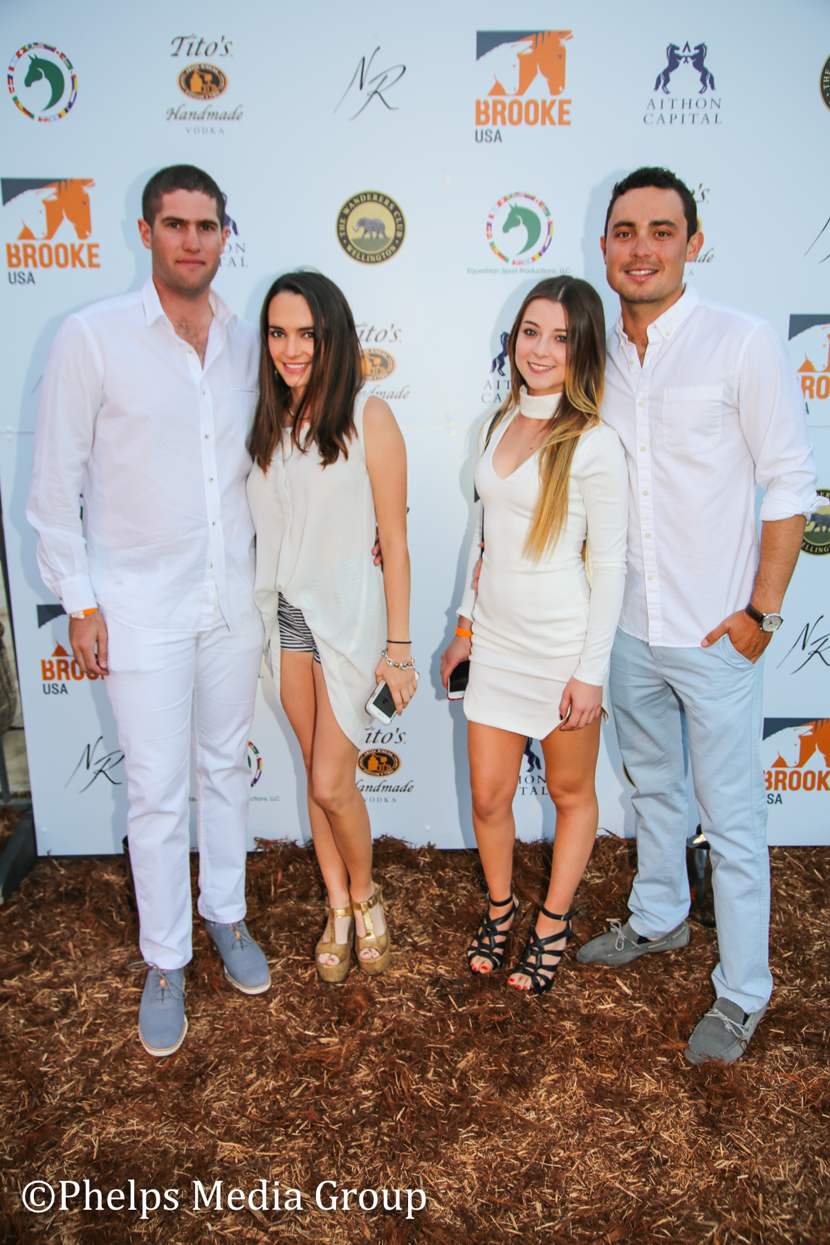 Daniel Laura Abigail and Roger; Nic Roldan's 2nd Annual Sunset Polo & White Party, FL, by Phelps Media.jpg
