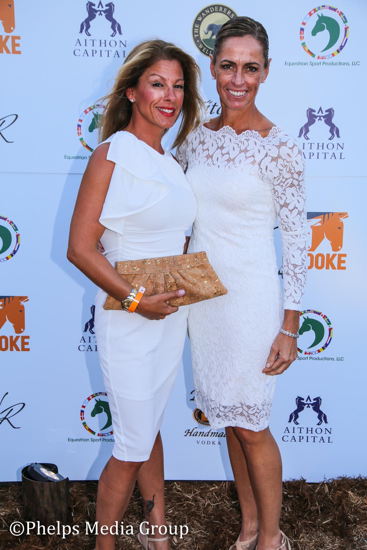 Dawn Bernardo and Lauren Sammis; Nic Roldan's 2nd Annual Sunset Polo & White Party, FL, by Phelps Media.jpg