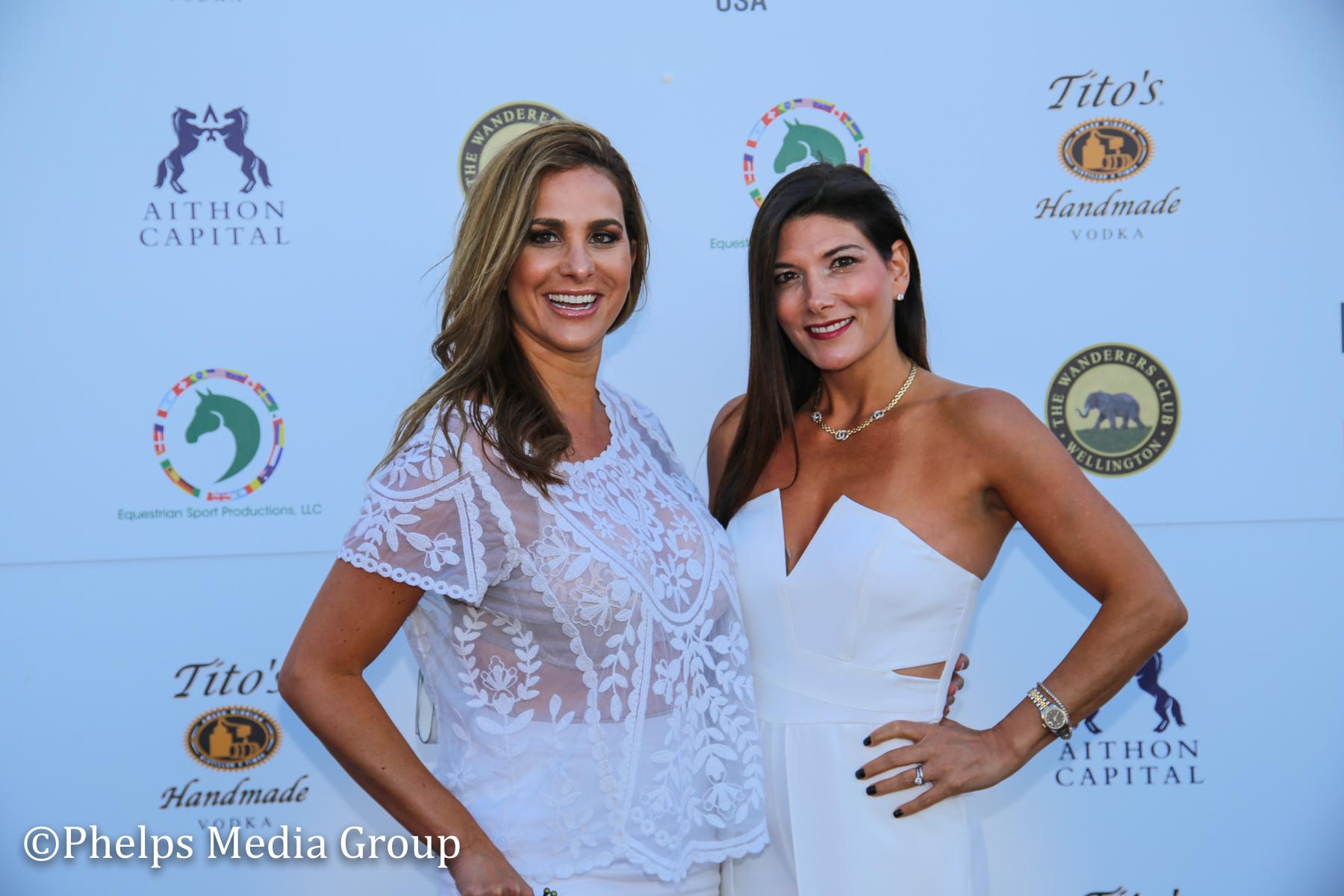 Deborah Lenchus and Dr LIsa Palmer; Nic Roldan's 2nd Annual Sunset Polo & White Party, FL, by Phelps Media (1).jpg