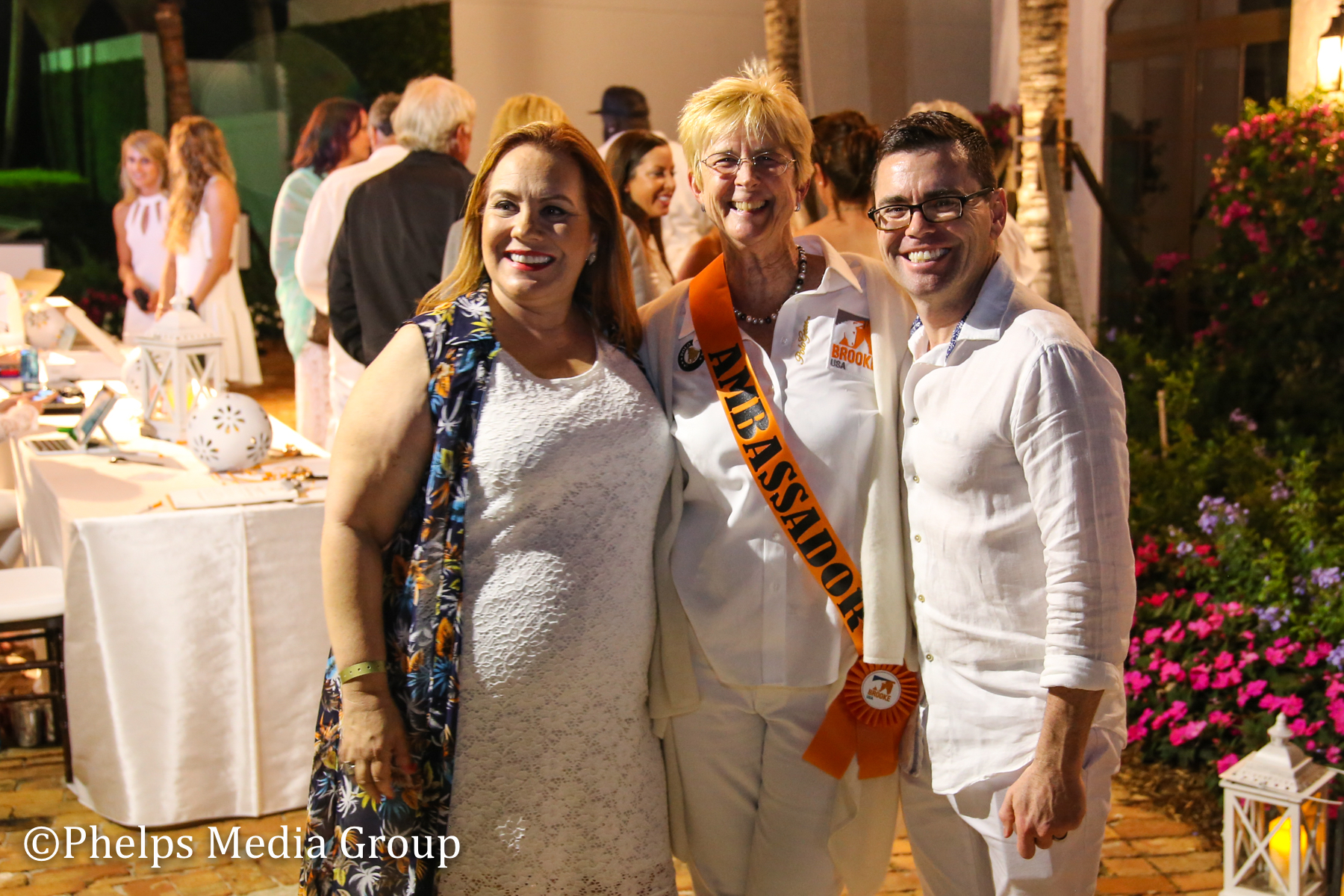 Emily Dulin Margaret Duprey and Brendan; Nic Roldan's 2nd Annual Sunset Polo & White Party, FL, by Phelps Media.jpg