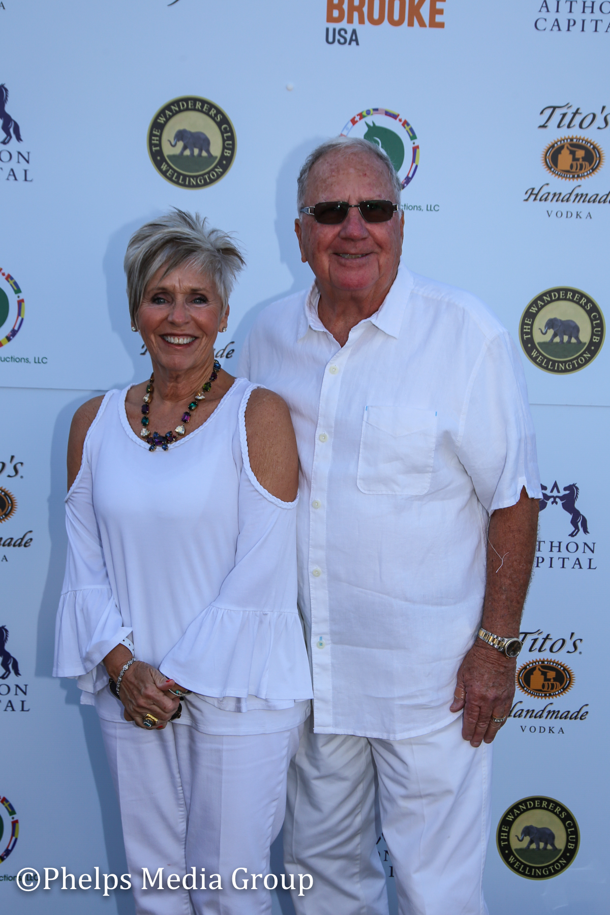 George Madden and Mary-Jane; Nic Roldan's 2nd Annual Sunset Polo & White Party, FL, by Phelps Media.jpg