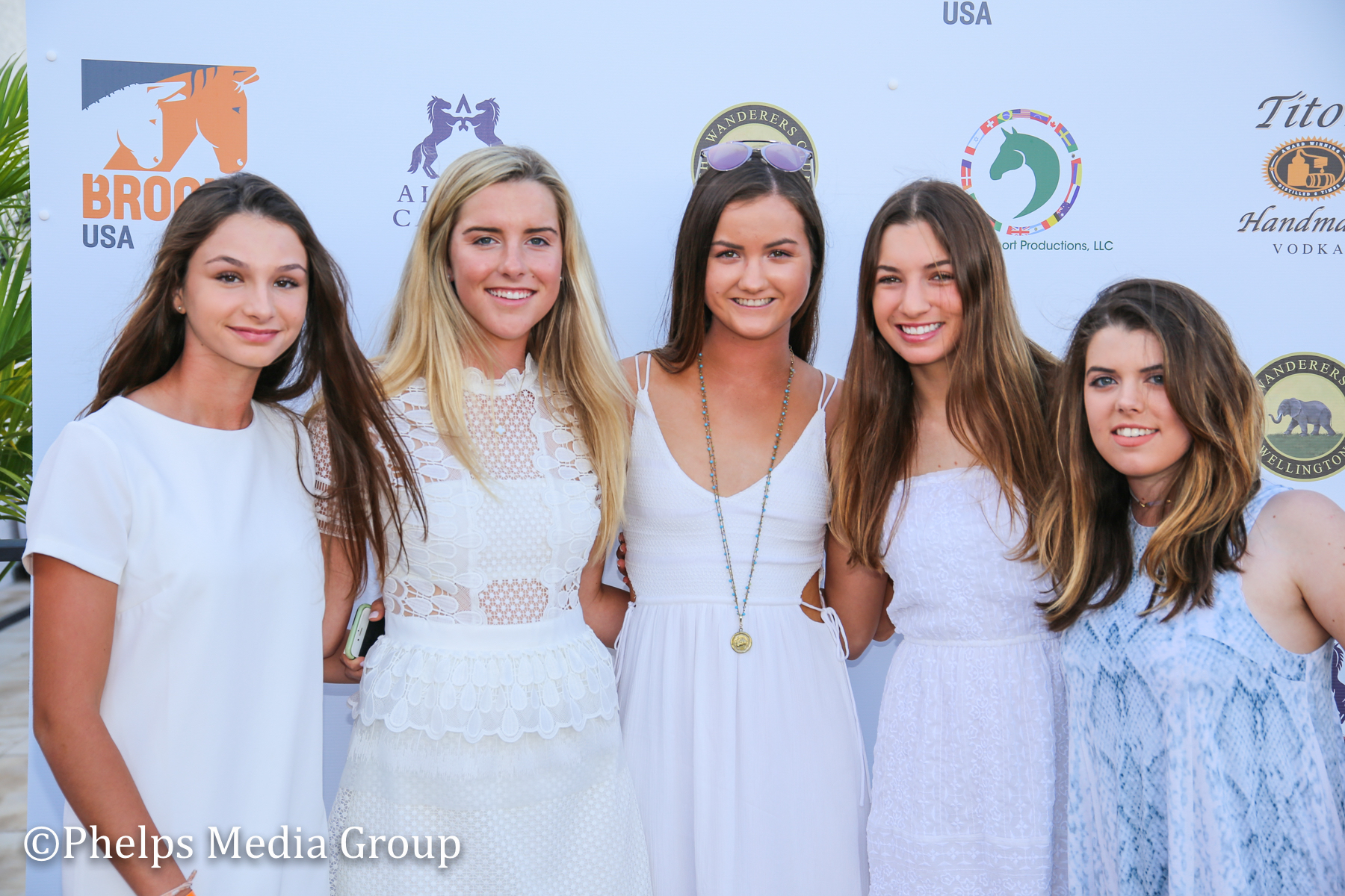 Helen Graves, Isabel Stettinius, Marissa Rice, Sarah Yandell; Nic Roldan's 2nd Annual Sunset Polo & White Party, FL, by Phelps Media.jpg