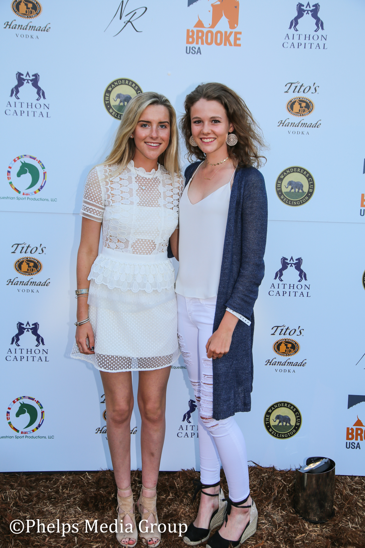 Isabel Stettinius and Anna Gutenburg; Nic Roldan's 2nd Annual Sunset Polo & White Party, FL, by Phelps Media.jpg