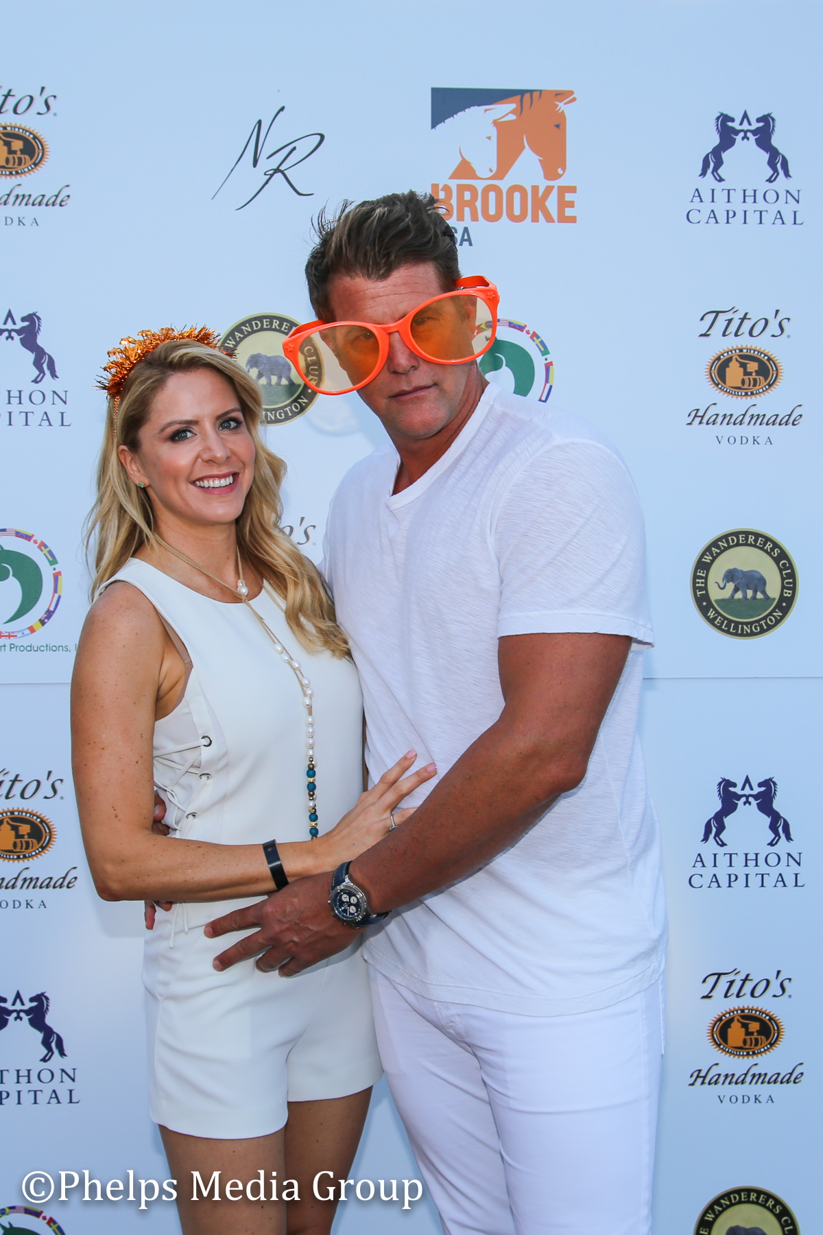 Jason Shinn and Jessica Julian; Nic Roldan's 2nd Annual Sunset Polo & White Party, FL, by Phelps Media.jpg