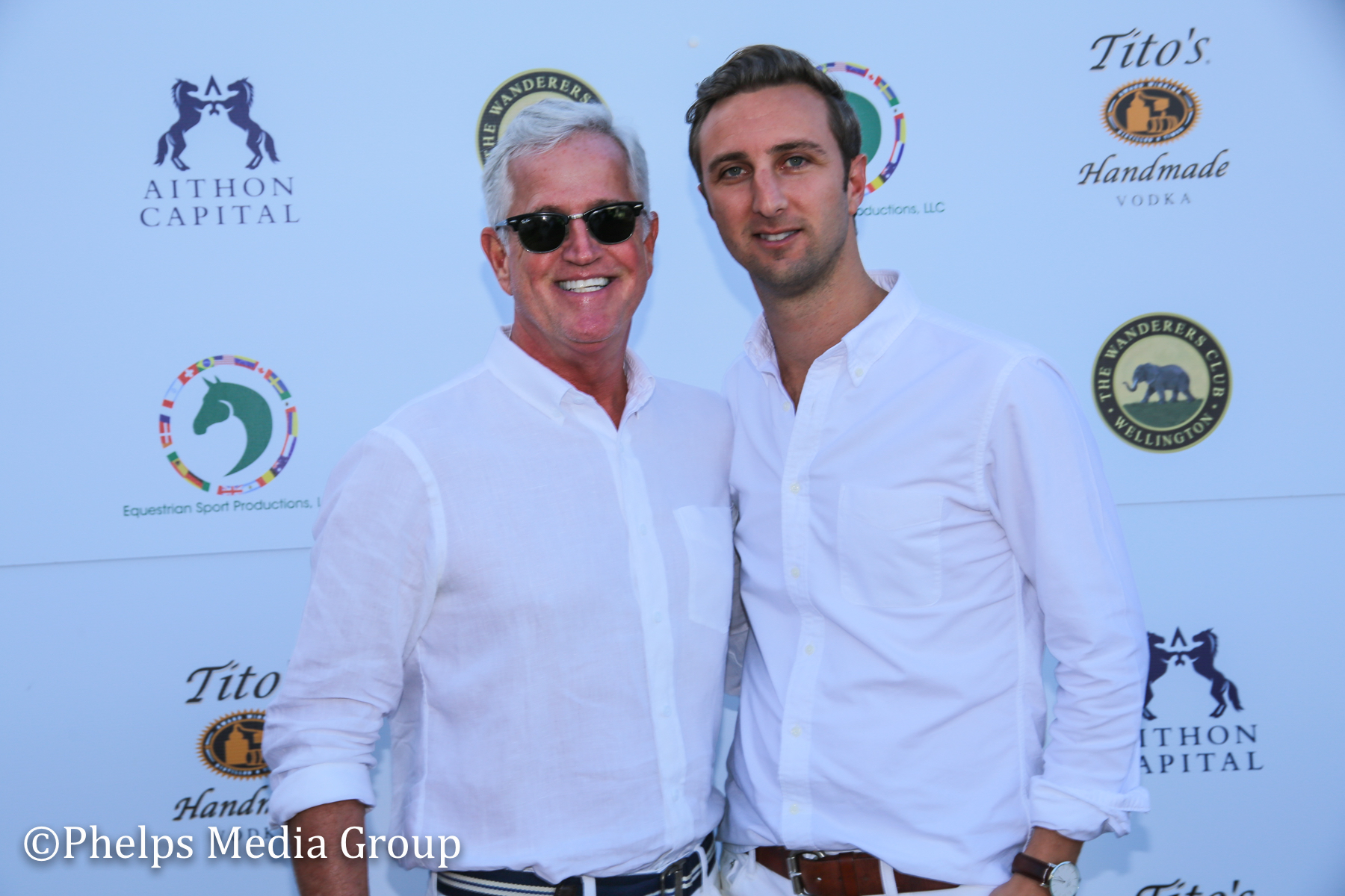 John Green and Marcus Schult; Nic Roldan's 2nd Annual Sunset Polo & White Party, FL, by Phelps Media.jpg