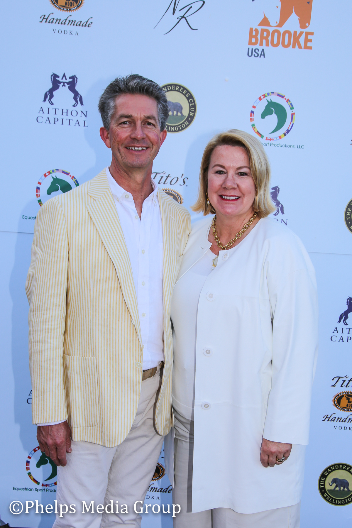 Kar and Laura Rombauer; Nic Roldan's 2nd Annual Sunset Polo & White Party, FL, by Phelps Media.jpg