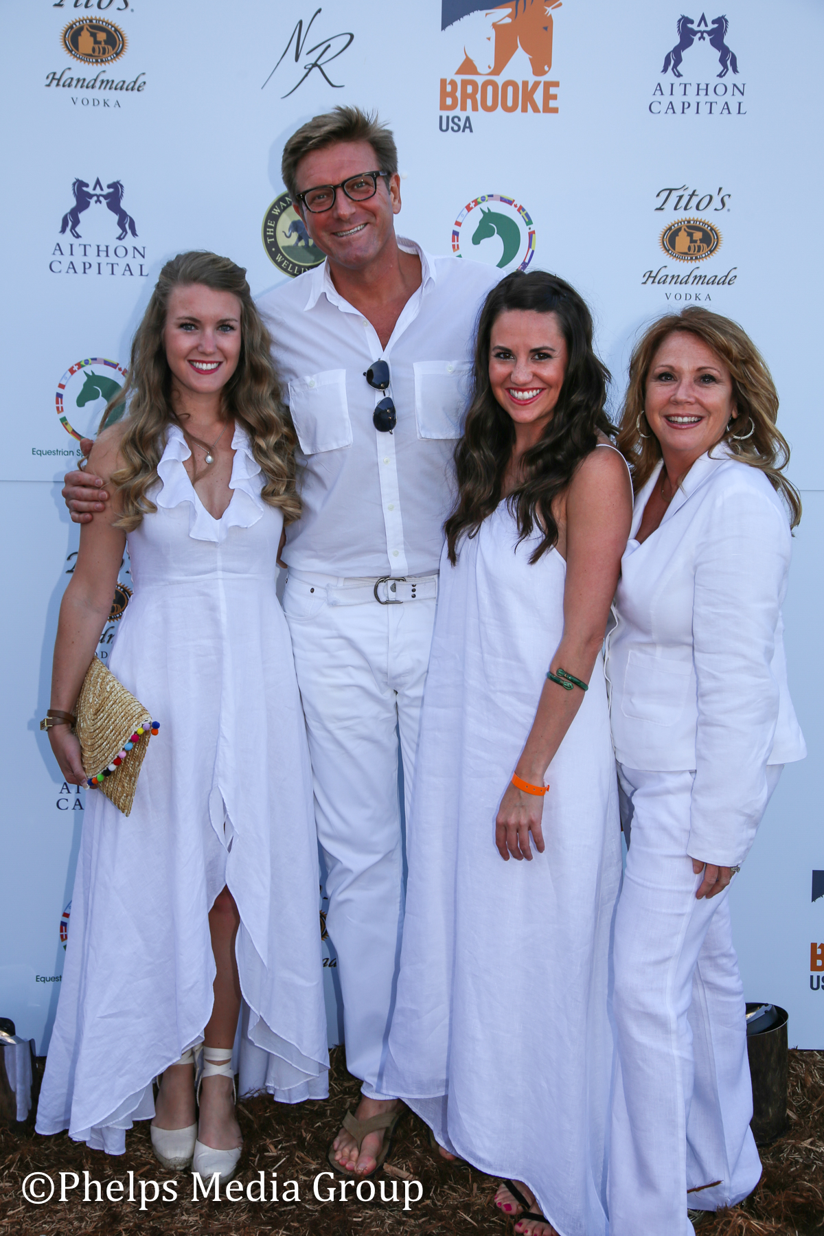 Katie Cherubin Denise Constantino Hugh Treadwell and Liz Wellen; Nic Roldan's 2nd Annual Sunset Polo & White Party, FL, by Phelps Media.jpg