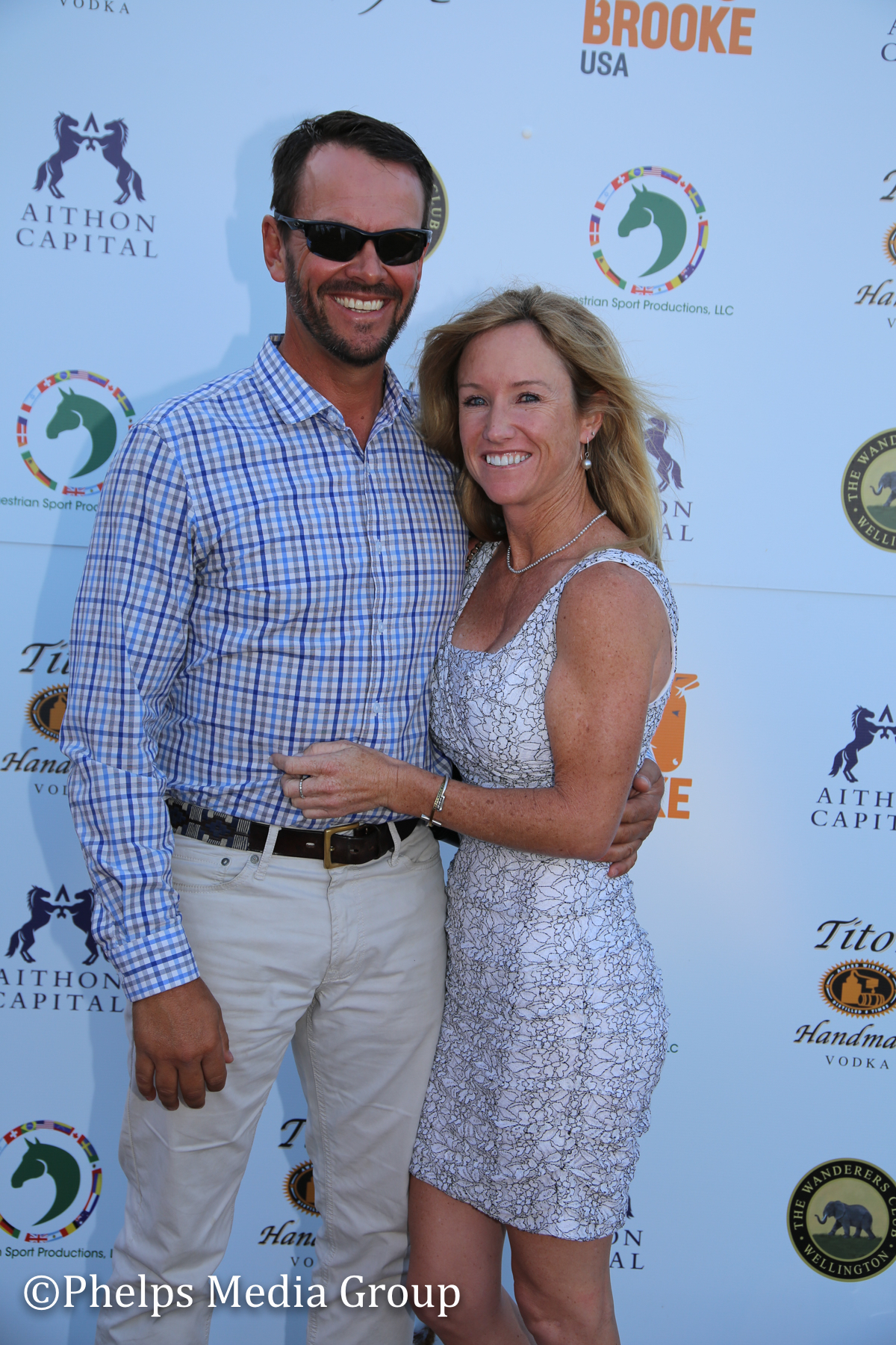 Katie Moon and Angus Gordon; Nic Roldan's 2nd Annual Sunset Polo & White Party, FL, by Phelps Media.jpg