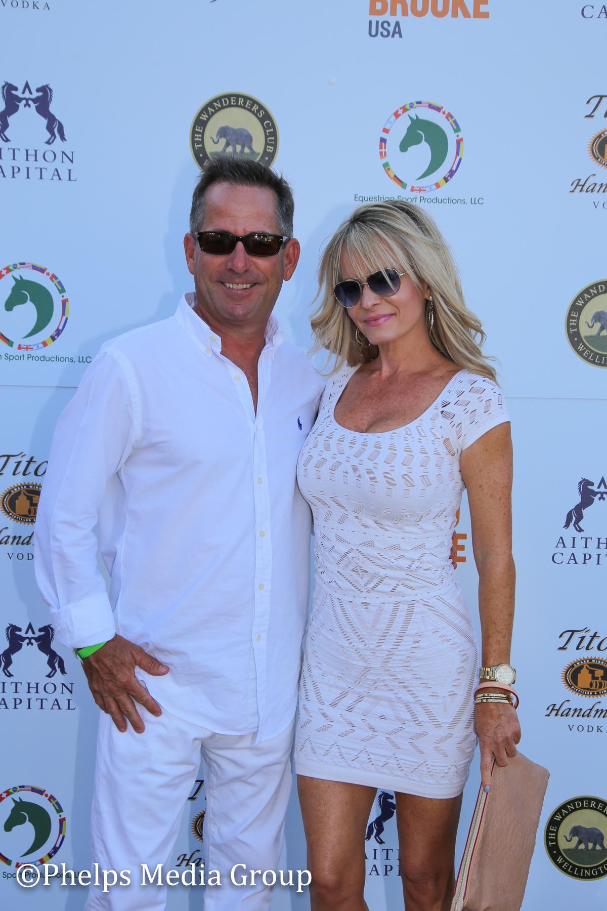 Randy Gardner and Lauren LeBlanc; Nic Roldan's 2nd Annual Sunset Polo & White Party, FL, by Phelps Media.jpg