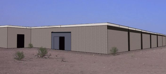 This is an architectural rendering of the types of shade shelters that Brooke will construct in two additional market areas. They may not be beautiful, but they're very practical, economical to build, and easy to maintain. They will be constructed of concrete block and timber, with tin roofs, which help to keep the animals cool inside during the day. They also have large vents along the roof line to promote ventilation, and they can serve several hundred animals each day. Similar previously constructed shade shelters in other market areas have been very effective in lowering the mortality rates of the animals who have access to them.