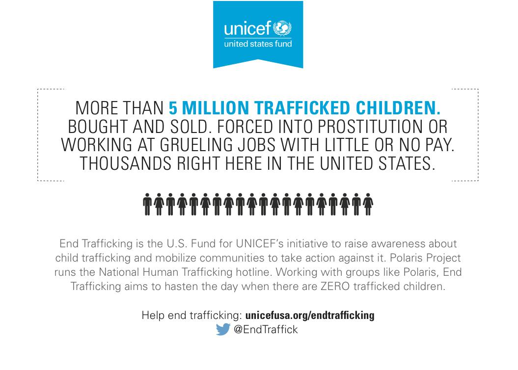 unicef end trafficking