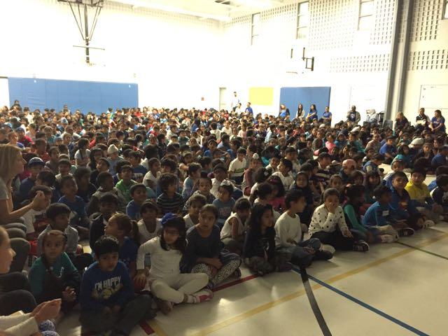 Assembly at Sir Isaac Brock Public School