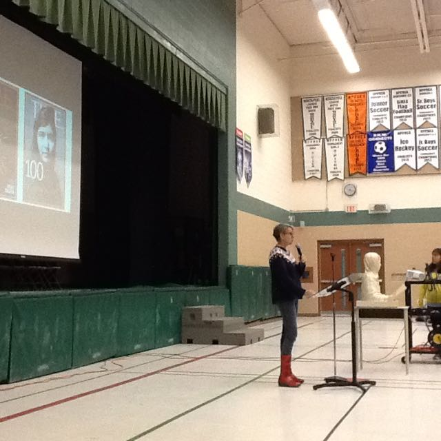 Presenting at Royal Orchard Middle School